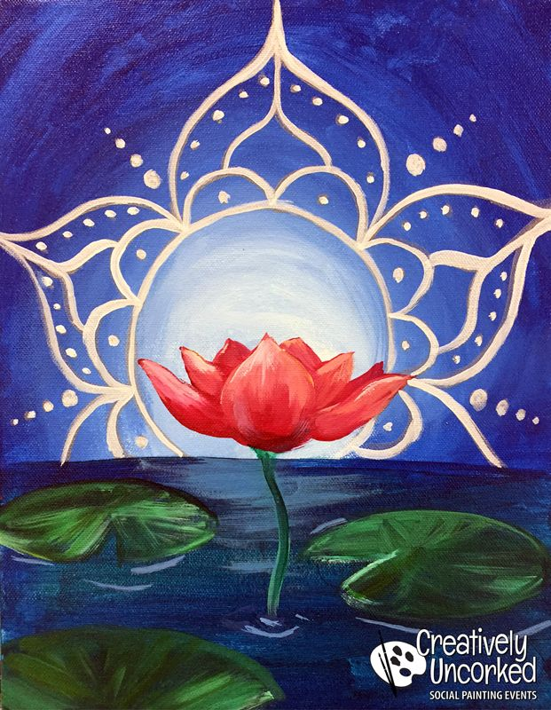 Lotus Mandala | Creatively Uncorked | http://creativelyuncorked.com