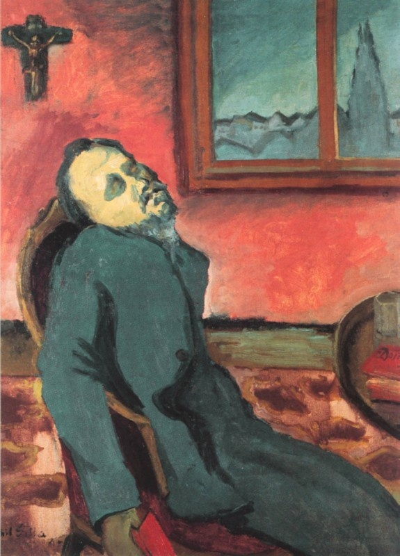 Reader of Dostoevsky, by Emil Filla, 1907