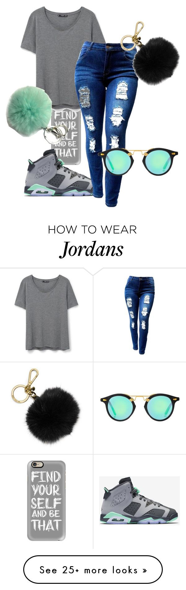 """Didn't they tell you that I was a savage? "" by ciara81johnson on Polyvore featuring Casetify, MANGO, NIKE and MICHAEL Michael Kors"