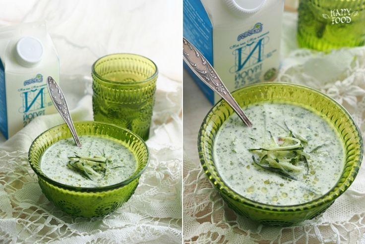 Холодный огуречный суп с кинзой и лаймом - HAPPYFOOD