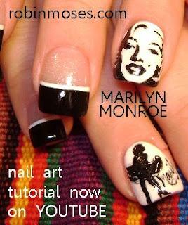 Robin Moses Nail Art- Marilyn pinspired by Robin Moses