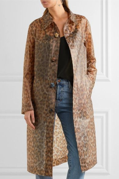 Christopher Kane - Leopard-print Rubberized Raincoat - Leopard print - IT