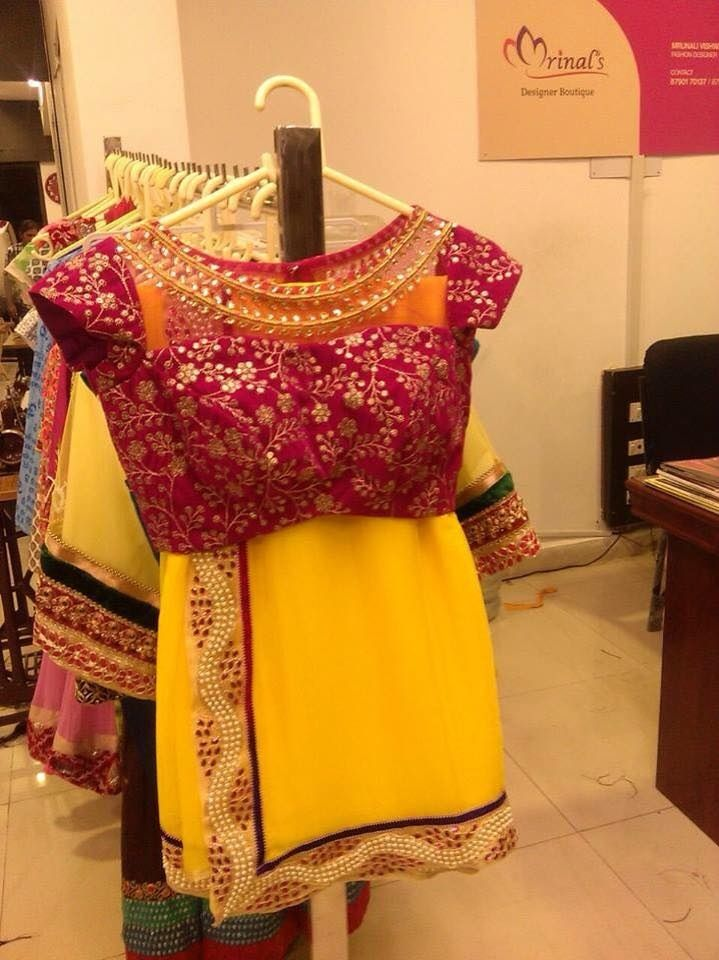 Yellow saree with pond embroidered blouse