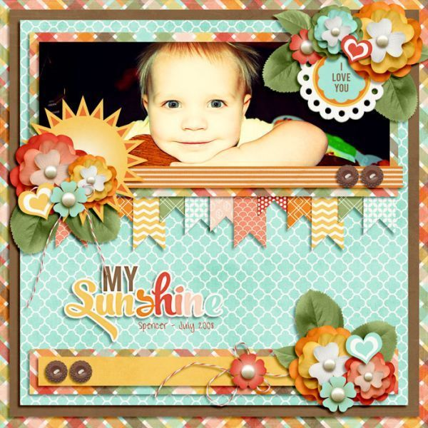 You are My Sunshine by Jady Day Studio, part of the August 2013 Scrap Pack at Scrap Stacks: http://scrapstacks.com/scrappack/