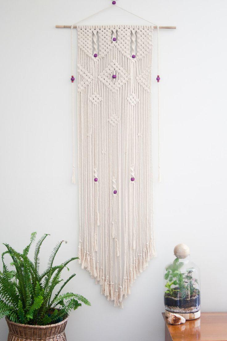 Macrame Wall Hanging 'Cascade' by PrettyKooky on Etsy https://www.etsy.com/listing/211453907/macrame-wall-hanging-cascade