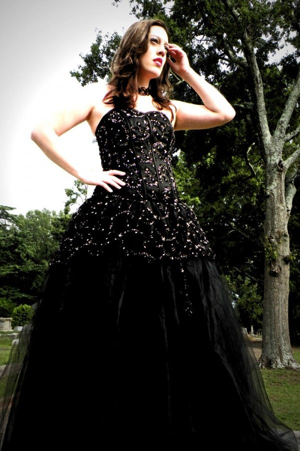 The 25 best black gothic wedding dresses ideas on for Black wedding dresses meaning