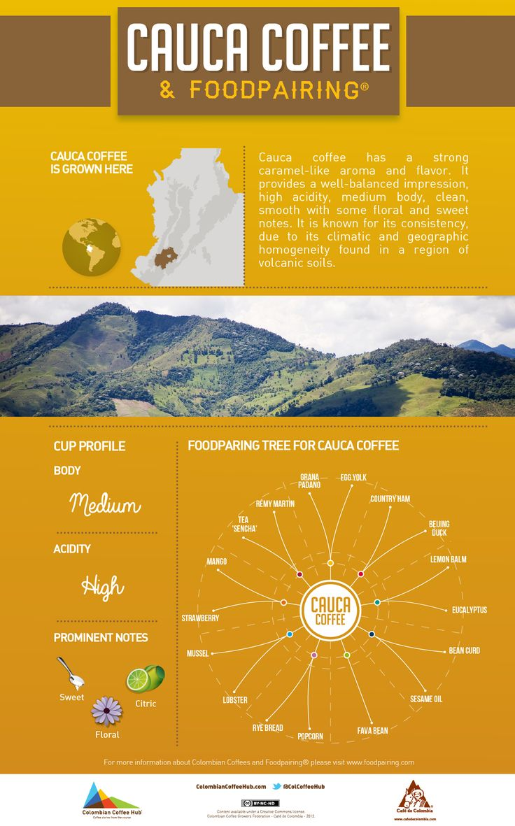 Now it's time to get Foodpairing inspired with Cauca's coffee. Visit www.colombiancoffeehub.com for more great info.