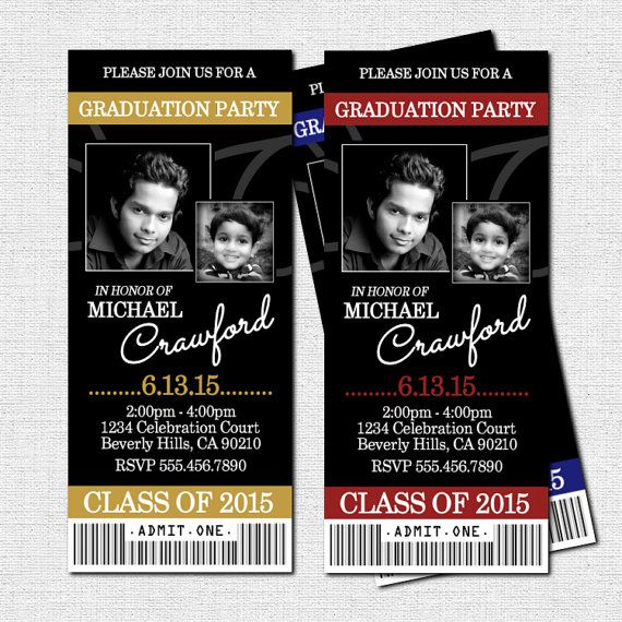 graduation party ticket invitations or announcement