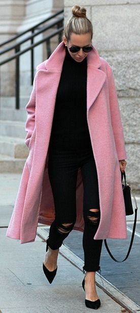 Best 25  Long pink coat ideas on Pinterest | Grey hat, Leopard ...