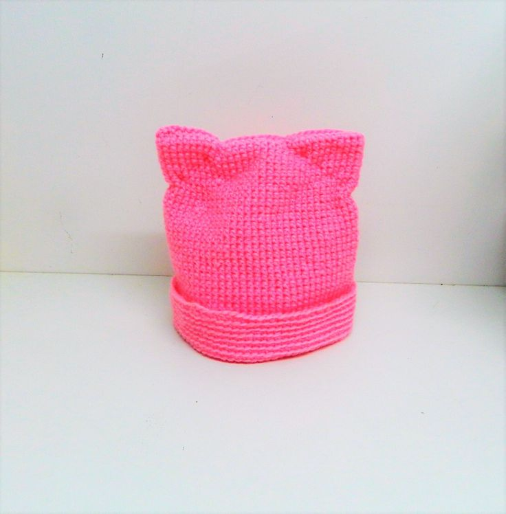 Pussy Cat Hat, Pink Pussyhat, Pussycat Hat, Pink Pussy Hats, Pussyhat Movement, Cat Ear Hat, cat beanie,  feminist hat, cat lover gift, cats by AlsCraftyCorner on Etsy