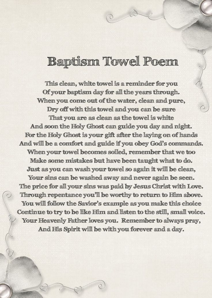 fun idea I might try for future baptisms All us DIYers can add embellishments to our towels like:an embroidered clam shell, cross, angel, heart and/or lace edging. Other ideas.