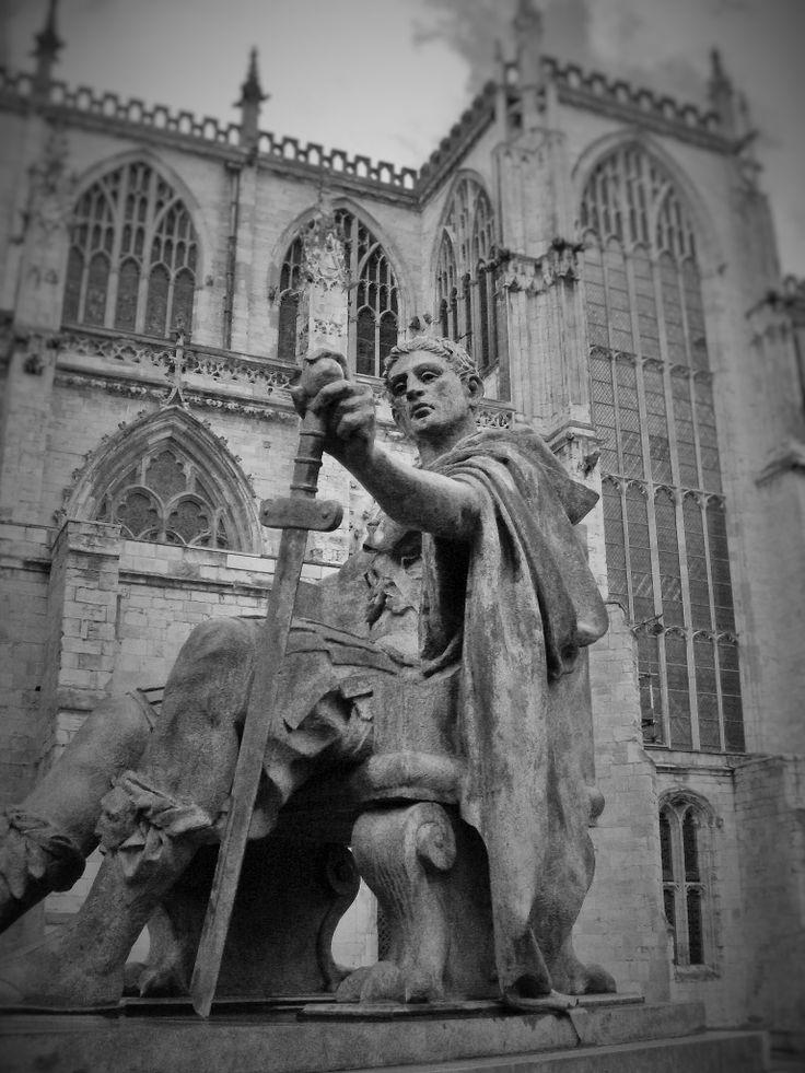 statue outside York Minster