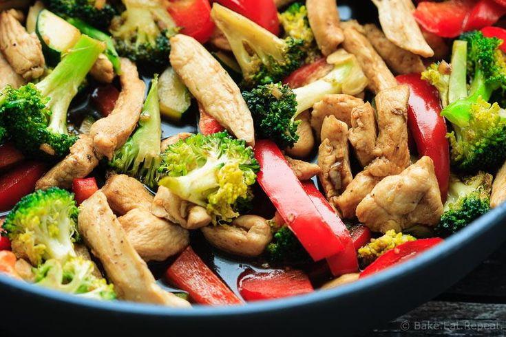 Easy Teriyaki Chicken Stir Fry | FaveHealthyRecipes.com