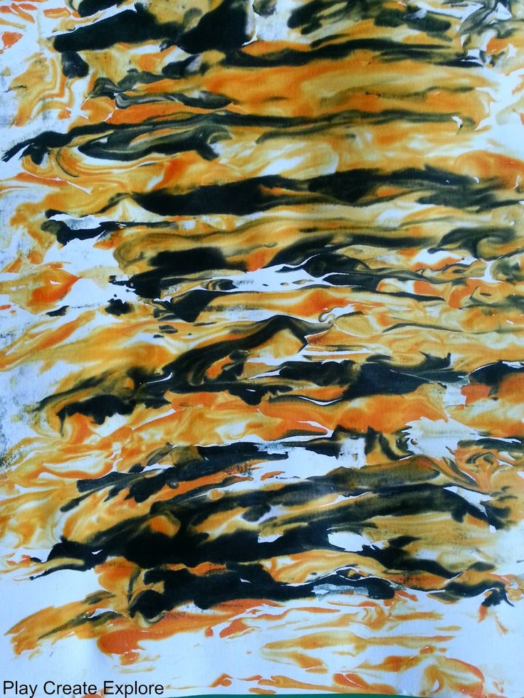 Play Create Explore: Tiger Shaving Cream Marbling Craft