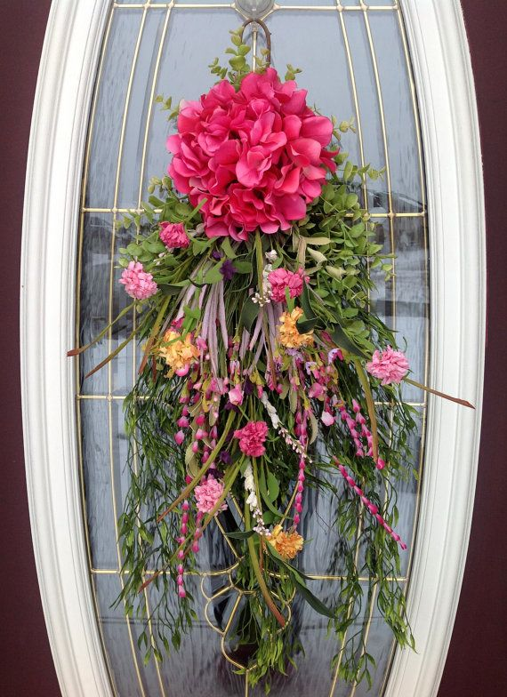 Spring Wreath Summer Wreath Teardrop by AnExtraordinaryGift, $75.00