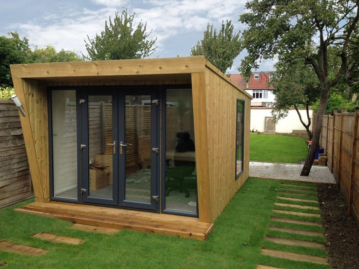 Pinnacle 3x4m garden room with norwegian spruce cladding for Cedar garden office
