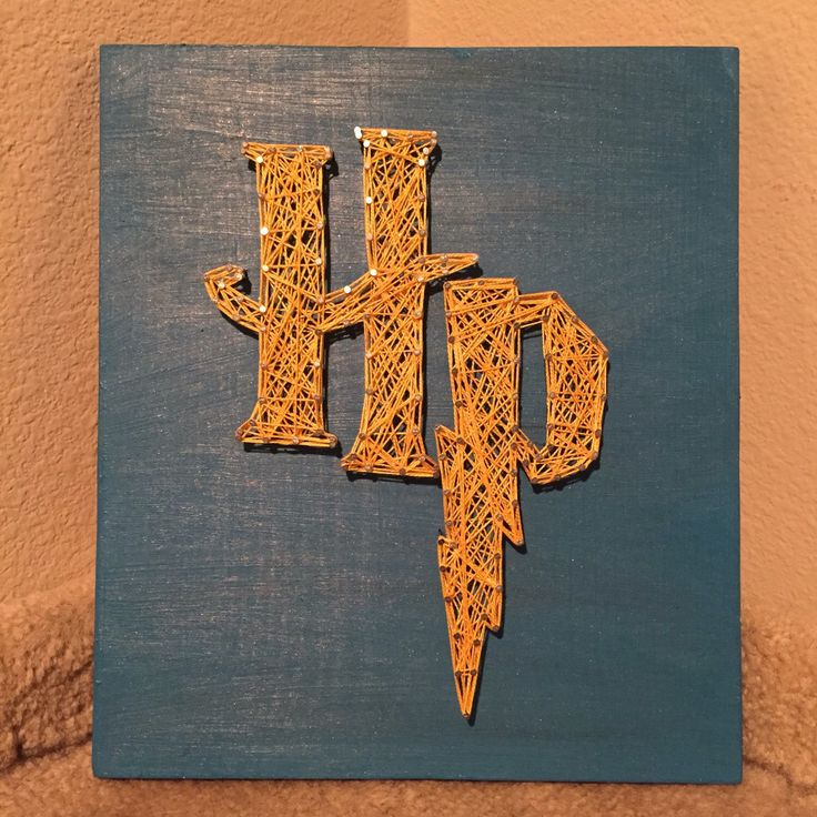 Harry Potter String Art Sign by StringsbySamantha