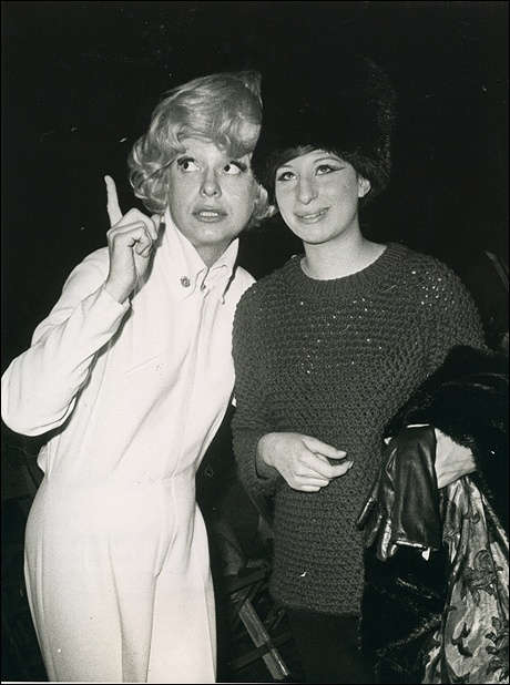 barbra streisand With Carole Channing, 1965.
