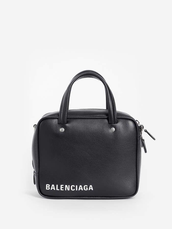 0e914d304b5 Balenciaga Top Handle Bags. BALENCIAGA WOMEN'S BLACK TRIANGLE SQUARE BAG XS  ...