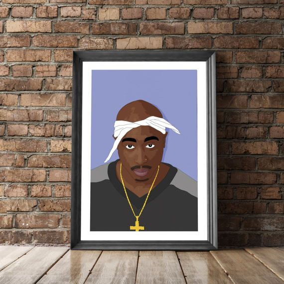 Tupac Poster 2Pac Poster Hip Hop Poster Tupac by MangoAndDesign