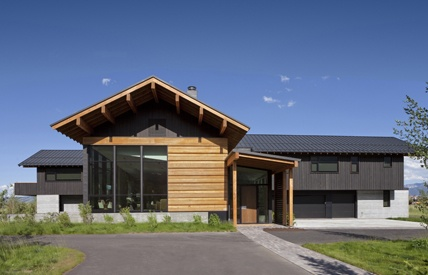 Grey and wood exterior