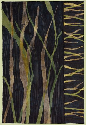 "image of quilt titled ""Leaves of Grass"" by Barbara Nepom © 2008"