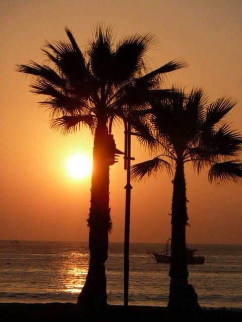 Atardecer en playas de Iquique