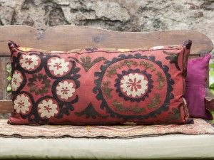 vintage suzani decorative pillow
