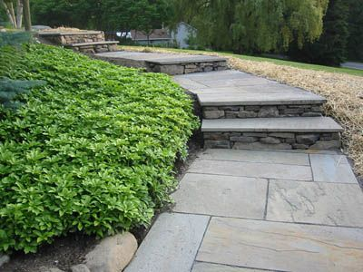 Walkway Designs | Stone walkways - Using natural and cut flagstone, brick and more