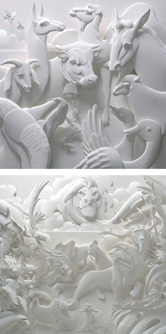 Paper sculptures - Wall to Watch