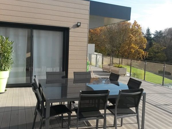 17 meilleures id es propos de lame composite sur pinterest lame terrasse - Lame terrasse bois gris ...