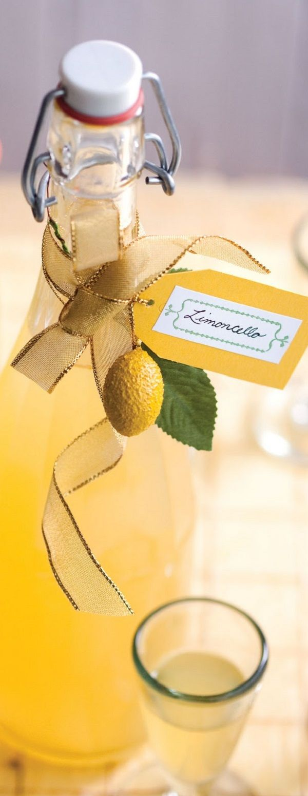 Traditional Italian Recipe for Limoncello...perfect for a summer gift basket!