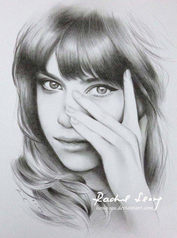 girl 6 by hong yu - Pencil Drawings by Leong Hong Yu  <3 <3