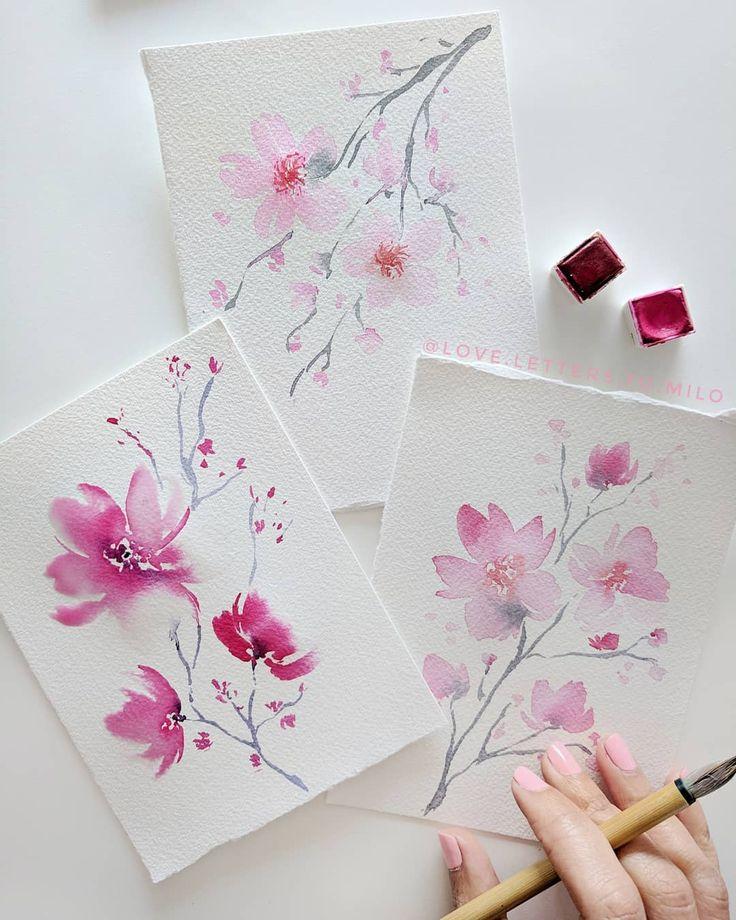 Печать акварельных открыток с рисунков