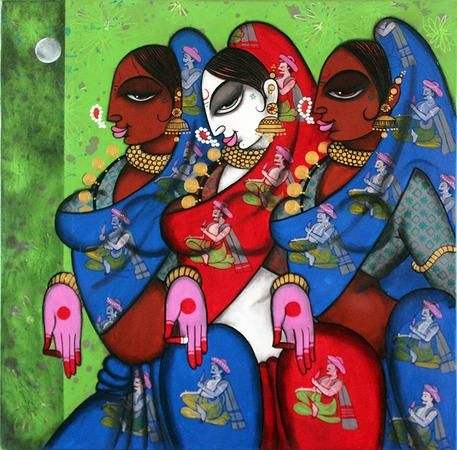 Three Dancer by Varsha Kharatmal See more artworks at: http://www.indianartcollectors.com/index.php