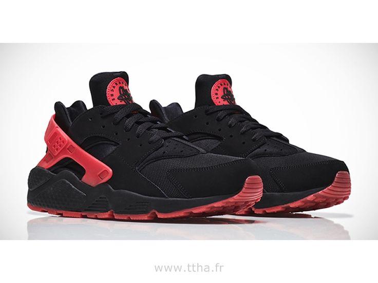 Nike Air Huarache hassent noir et rouge Love / Hate QS chaussures couple,Homme Huarache Light