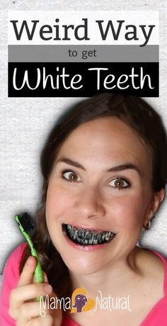 Activated charcoal teeth whitening?!? It's weird, but it works! In this post and video, I'll show you how to do it :) http://www.mamanatural.com/charcoal-teeth-whitening/