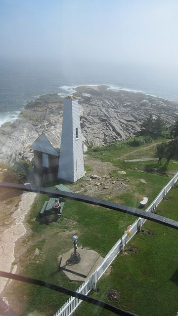 View from the tower of Pemaquid Point Lighthouse in ME...also soon...