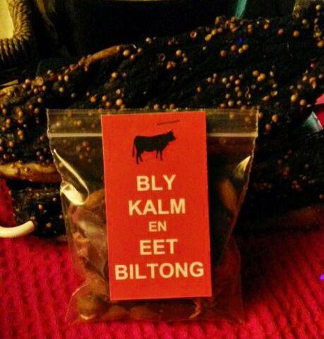Eet Biltong! - Bly Kalm en Eet Biltong