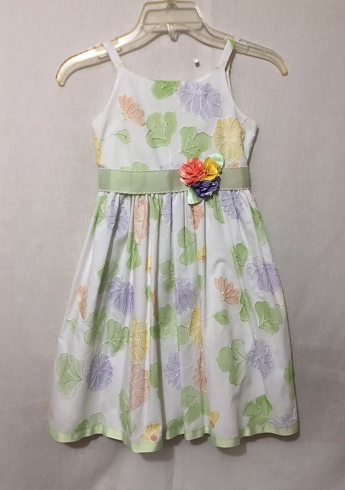 9265e91d1 Girls size 6X Youngland sleeveless dress floral print fully lined ...
