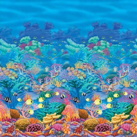 Coral Reef Scene Setter Room Roll