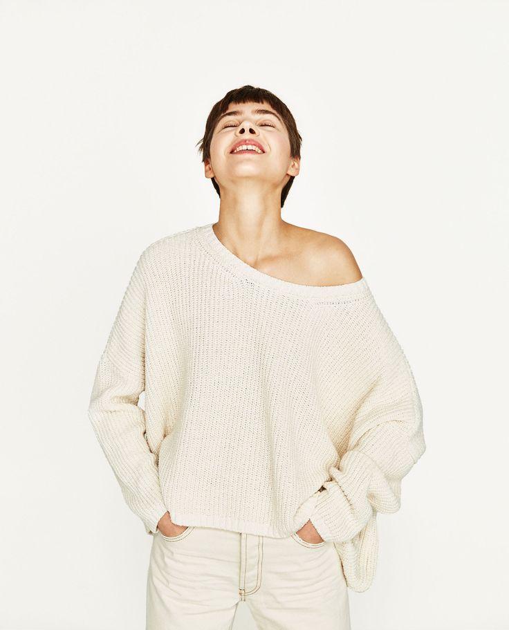 Camisola decote à barco (branco): ZARA (9,99€)