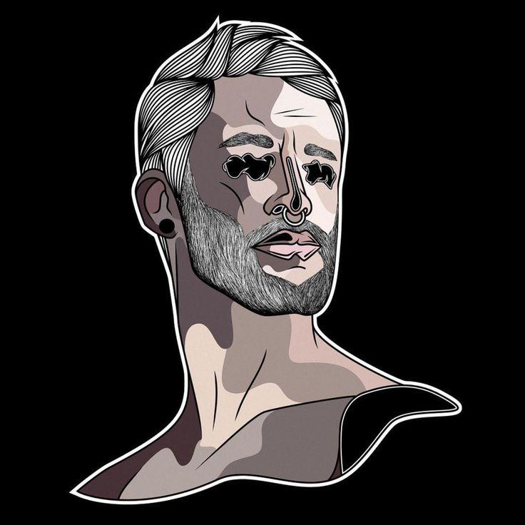 Illustration | INSTAGRAM : @daniel.felgueiras | #artwork #art #drawing #illustration #texture #pattern #artoftheday #artsanity #thedesigntip #portait #beard #hairy #pogonophile #minimalism #monochrome #artist #moustache