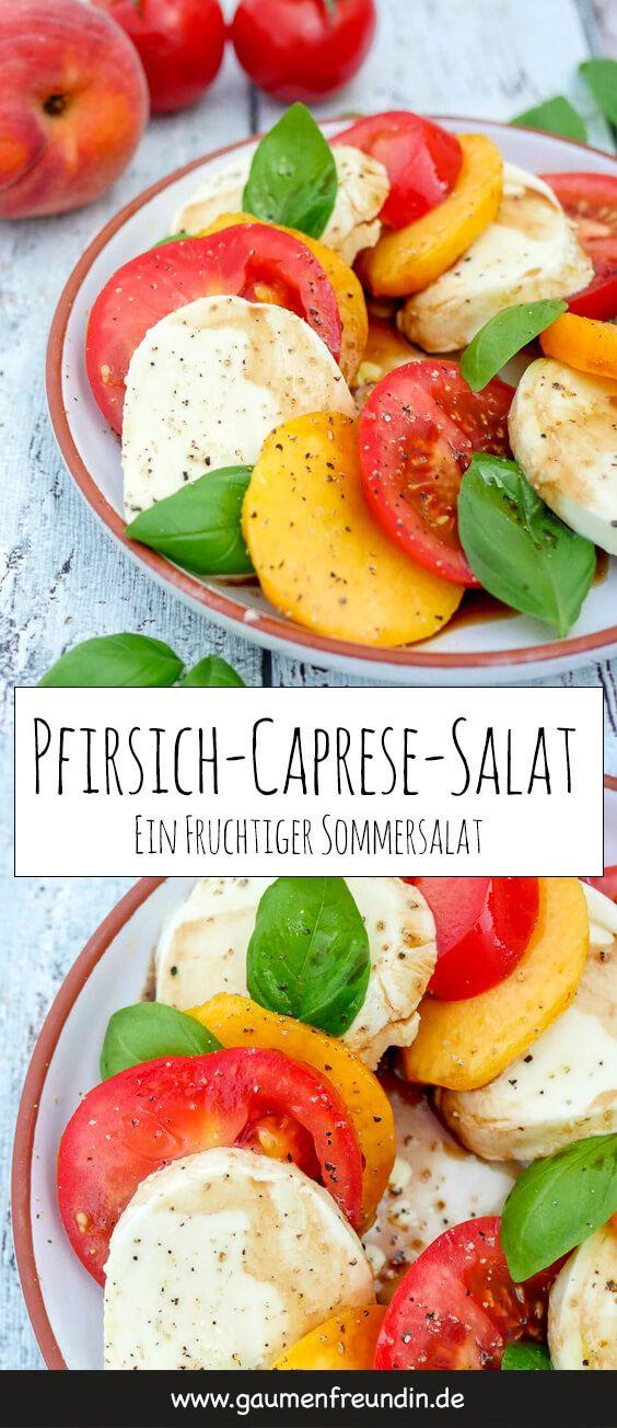 Pfirsich-Caprese-Salat