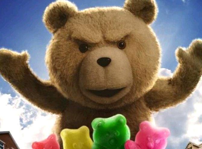 When I Eat Gummy Bears I Feel Like A Over Sized Cannibal God In 2020 Ted Bear Teddy Bear Ted Movie