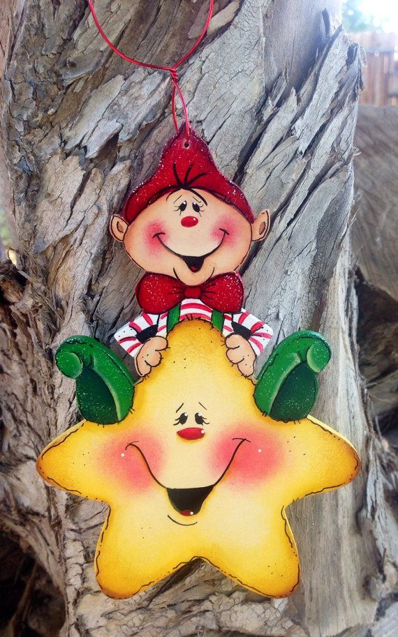 Adorable+Elf+Star+Hanger+13+by+CountryCharmers+on+Etsy,+$9.50