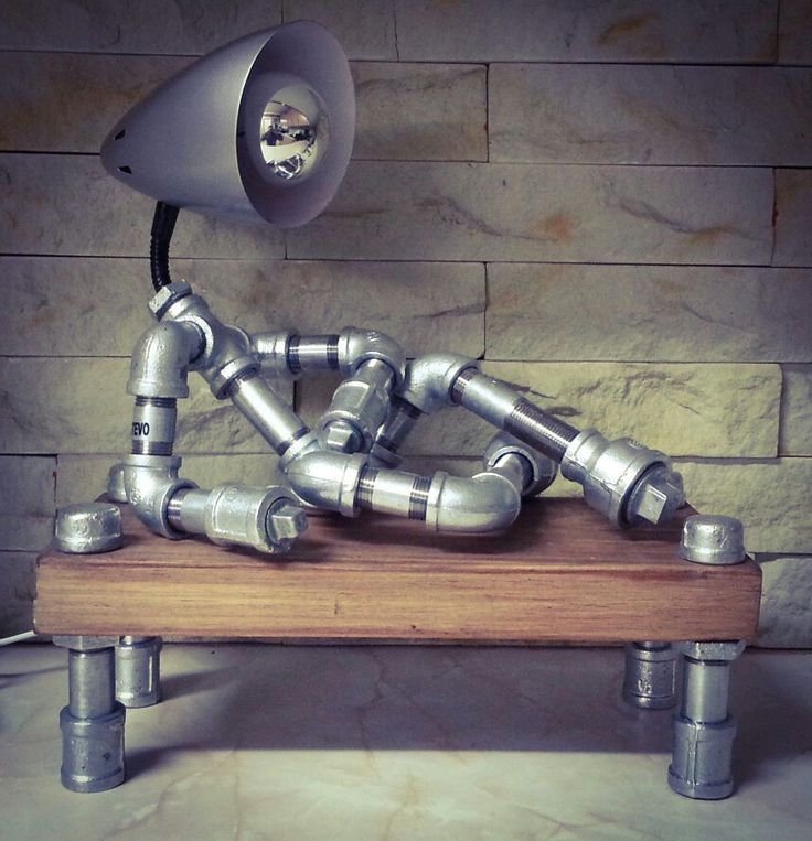 73 best pipe craft images on pinterest pipes industrial for Gas pipe desk lamp