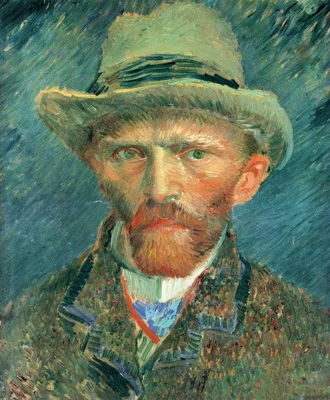 Vincent van Gogh, Self-portrait with Grey Felt Hat, Paris, Winter, 1886-87