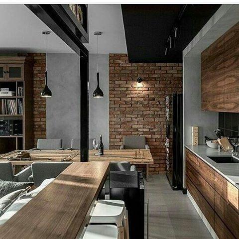 Rompe con lo cotidiano. Los materiales rústicos también pueden darnos ambientes contrastantes y modernos. Ve mas #ideas para #remodelar en: arquitecturacreativa.blogspot.com Siguenos también...