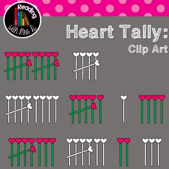 Are you creating resources for your classroom or your TPT store? If you're looking for a simple math clip art, consider these heart tally marks for numbers 1-10. They are perfect for Valentine themed resources! Both Colour/color and b&w versions are included!